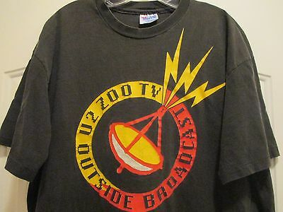 VTG 90s Collectible U2 Outside Broadcast Concert Tour Made In USA T Shirt XL