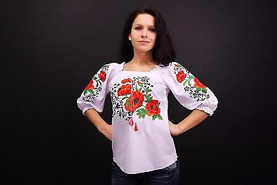 Ukrainian embroidered sorochka t-shirt blouse vyshyvanka, embroidery, Size XXL