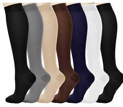Compression Socks Graduated Support Stockings Leg Calf Men's Women's (S-XXL)