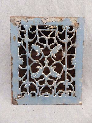 Antique Cast Iron Heat Grate Vent Register Old Decorative Vintage 8x10 34-17R