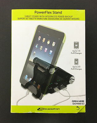 New! Bracketron - Power Flex Stand for Most Tablets - Black (BT2-638-2)