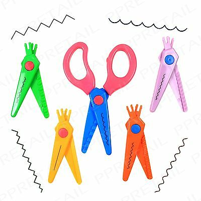 5Pc Assorted Shape +SCISSOR SET+ Wavy/Zig Zag/Scallop/Straight Pinking Shears