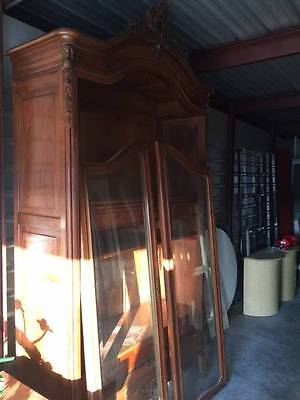 Large Antique Rococo French Two Door Armoire