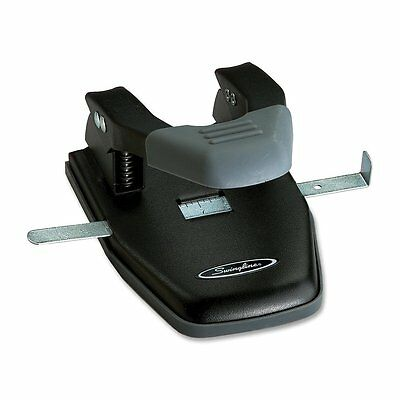Swingline Comfort Handle 2-Hole Punch, 50% Easier, 1/4 Hole Size, 28 Sheets