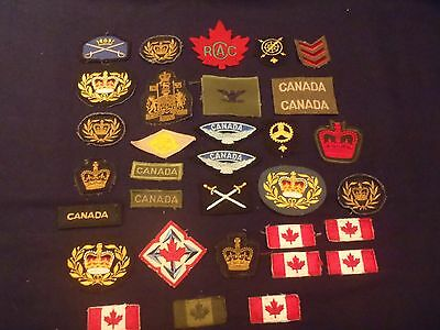 vintage Canada military patches lot of 32