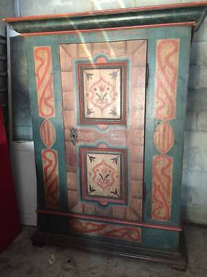 Antique Hand Painted Armoire Italy