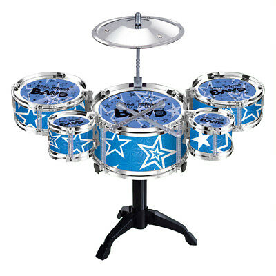 Set Jazz Drum Playset Percussion Musical Instrument for Kids Musical Toys