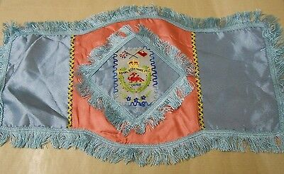 silk  military antimacassar   of the Royal Berkshire Regiment