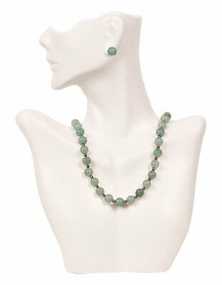 Necklace and Earring Bust Jewelry Display - White...NEW
