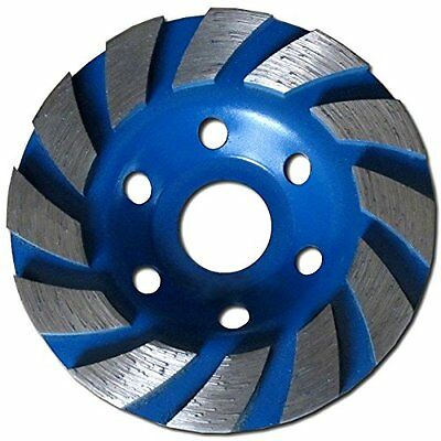 "Heavy Duty 4"" Concrete Turbo Diamond Grinding Cup Wheel for Angle Grinder ...NEW"