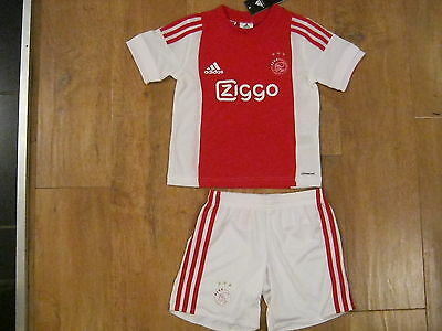Adidas AFC Ajax 2015-16 Home Mini Kit Size 5-6 Years **NEW** 116cm