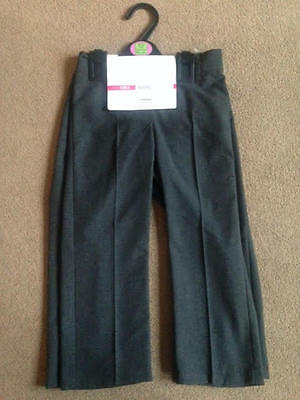 BNWT M&S 2 Pack Grey Bootcut Bootleg School Trousers Stormwear 3-4 Years