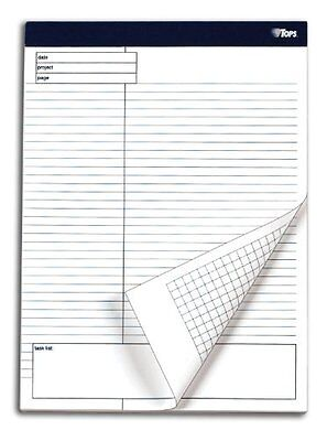 TOPS Docket Gold Project Planning Pad, 8-1/2 x 11-3/4 Inches, Perforated, ...NEW