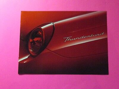 2002 Ford Thunderbird Auto Show/showroom 6-Page Brochure/handout