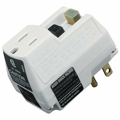 TRC 90033 Shockshield White Portable GFCI Plug with Surge Protection...NEW