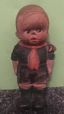 Antique Old Rubber Boy Scout Baden Powell Movement Doll