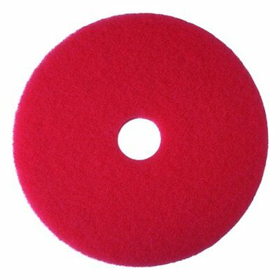 """3M Red Buffer Pad 5100, 13"""" Floor Buffer, Machine Use (Case of 5)...NEW"""