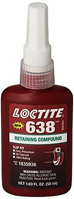 Loctite 21448 Green 638 High Strength Retaining Compound, 50 mL Bottle...NEW
