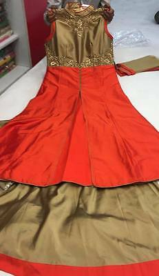Orange Designer Indo-Western Dress