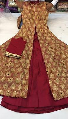 Red Designer Indo-Western Dress