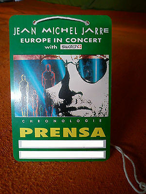 Jean Michel Jarre - Spanish Press Pass For Europe In Concert Tour Spain / Swatch