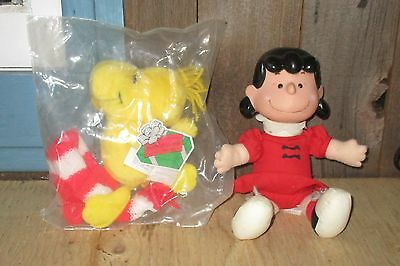 1993 McDonald's Plush WOODSTOCK & LUCY, Woodstock Is UNOPENED Peanuts Gang