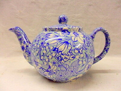 special offer Blue Valencia chintz design 2 cup teapot by Heron Cross Pottery