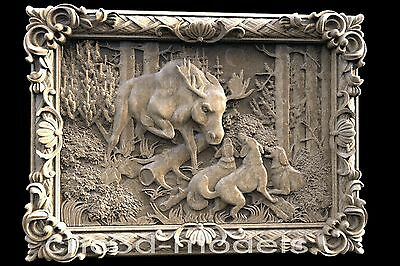 3D STL Models for CNC Router Carving Artcam Aspire Hunting Deer Hart Buck 198