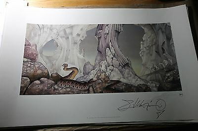 YES Roger Dean Art RELAYER Hand Signed Patrick Moraz Album Lithograph SALE!