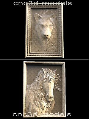3D STL Models for CNC Router Engraver Carving Artcam Aspire Wolf Horse 218