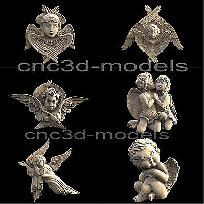 3D STL Models for CNC Router Engraver Carving Artcam Aspire Cherub Angel 225