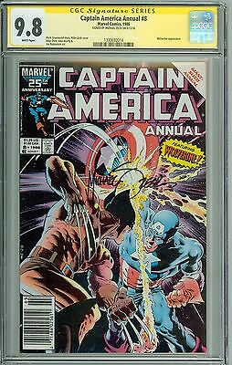 * CAPTAIN AMERICA Annual #8 CGC 9.8 SS Signed by Zeck Wolverine! (1330692014) *