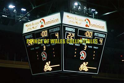 1979-80 Winnipeg Jets Scoreboard Photo 8X10
