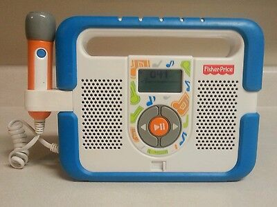 Fisher Price Kid Tough MP3 Music Player w WORKING Microphone & 41 Songs 2009 OOP
