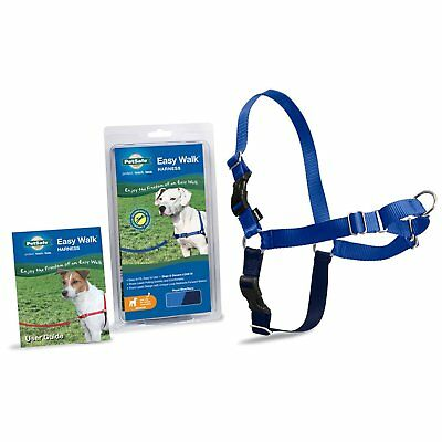 PetSafe Easy Walk Dog Harness Adjustable High-Quality Nylon Safe Medium Blue