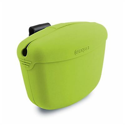 Dexas Popware for Pets Pooch Pouch Storage Memory Silicone Sturdy Treats Green