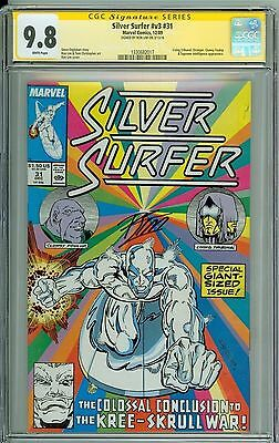 * SILVER SURFER #31 CGC 9.8 SS Signed by Ron Lim! ONE OF ONE! (1330682017) *