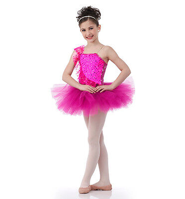 Once Upon A Dream Dance Costume Fuchsia Ballerina Sequin Ballet Tutu Clearance