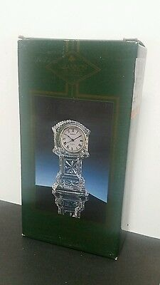 """NEW Shannon fine crystal Small Hollow Grandfather Clock 7"""" Gorgeous Ireland"""