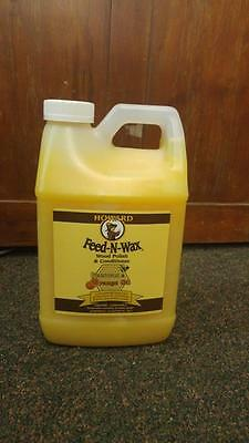 NEW Howard Feed-N-Wax Beeswax & Orange Oil Wood Polish & Conditioner 1/2 gallon