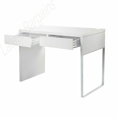 NEW Home Office Computer Desk Student Study Table Drawers White