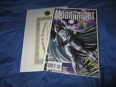 VENGEANCE OF MOON KNIGHT #1 Signed by Stan Lee  w/COA  ~Movie/TV