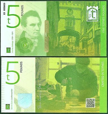 Totnes £5 Banknote, latest edition, their 1st. note with real security features.