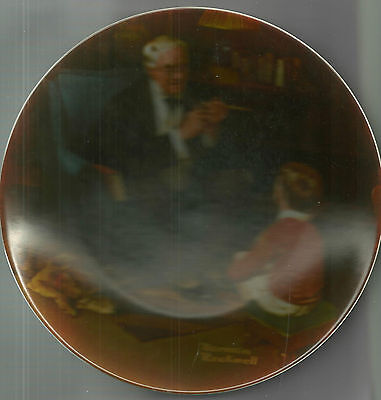 "Norman Rockwell Limited Edition Plate #6228Q "" THE TYCOON"" (1982)"