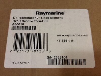 Raymarine A80018 B7H Bronze Thru Hull 0 Degree Tilted Element Transducer