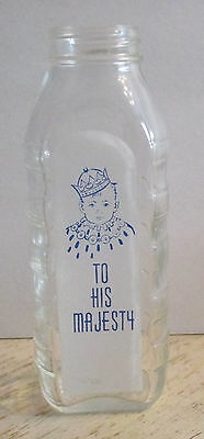 Vintage Samuel Callet Co Baby Bottle TO HIS MAJESTY #2