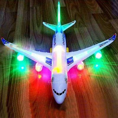 Electric Airplane Toys Moving Flashing LED Lights SoundsDIY Assembly Aircraft