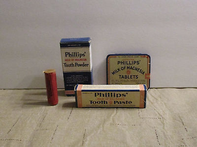 Phillips Tablets in tin Tooth Paste and Tooth Powder all in Original Packaging