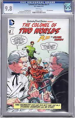 DC Colonel of Two Worlds #1 CGC 9.8 KFC Flash New York Comic Con NYCC 2015