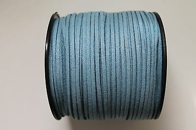 10 Meters Dusty Blue Colour Suede Leather Cord